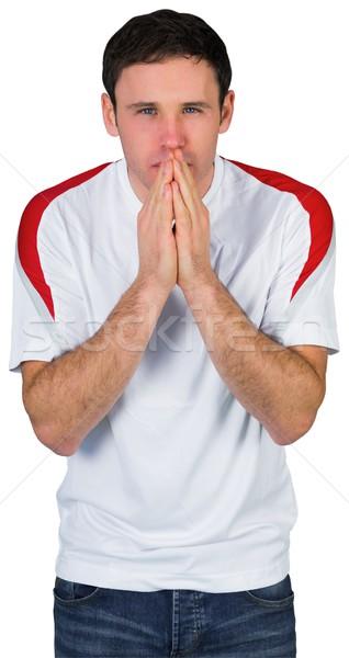 Nervioso fútbol ventilador blanco hombre fútbol Foto stock © wavebreak_media