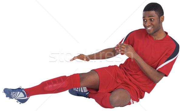 Rosso calci bianco calcio attrezzi Foto d'archivio © wavebreak_media