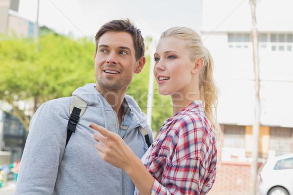 молодые туристических пару указывая глядя Сток-фото © wavebreak_media
