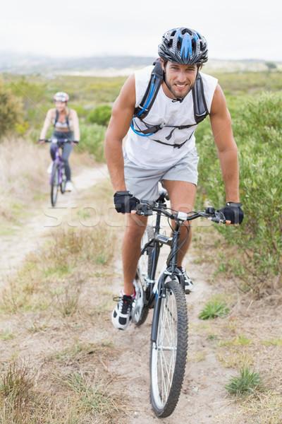 соответствовать привлекательный пару Велоспорт горные тропе Сток-фото © wavebreak_media