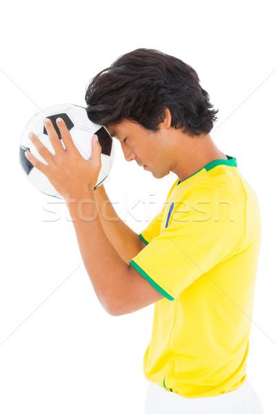 Amarelo bola branco homem Foto stock © wavebreak_media