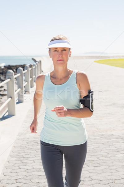 フィット 成熟した女性 ジョギング 桟橋 音楽 ストックフォト © wavebreak_media