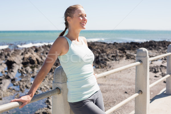Fit mature woman standing on the pier Stock photo © wavebreak_media