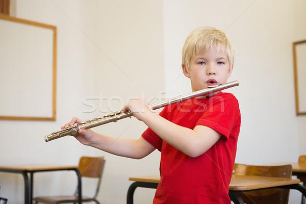 Cute gry flet klasie szkoła podstawowa szkoły Zdjęcia stock © wavebreak_media