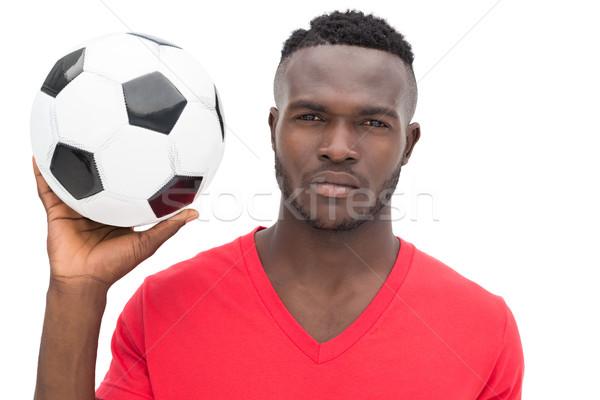 портрет серьезный красивый футбола вентилятор белый Сток-фото © wavebreak_media