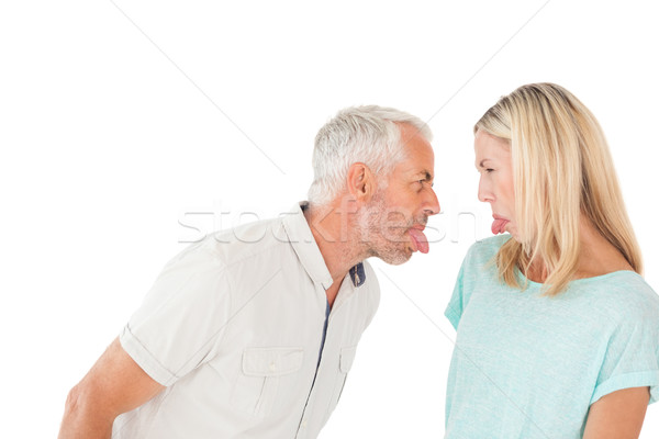Mature couple arguing with each other Stock photo © wavebreak_media