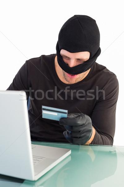 Ladrón compras línea portátil blanco ordenador Foto stock © wavebreak_media