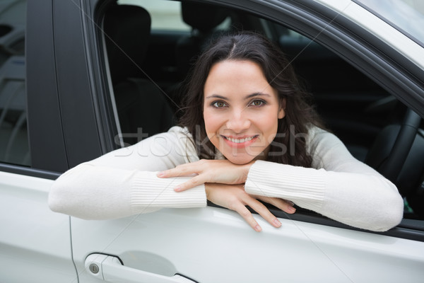 Happy woman in the drivers seat Stock photo © wavebreak_media