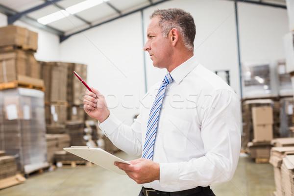Magazijn baas uitvinder inventaris groot man Stockfoto © wavebreak_media