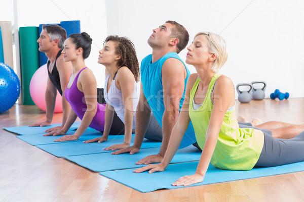 People doing yoga stretch in gym class Stock photo © wavebreak_media