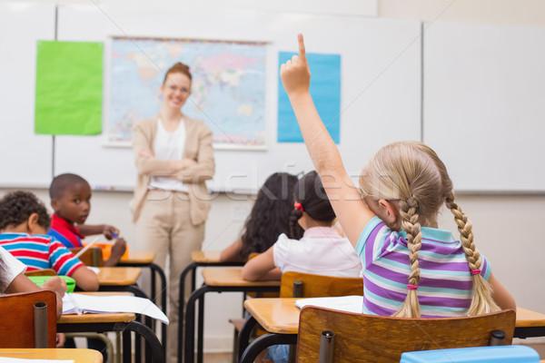 стороны география урок классе женщину Сток-фото © wavebreak_media