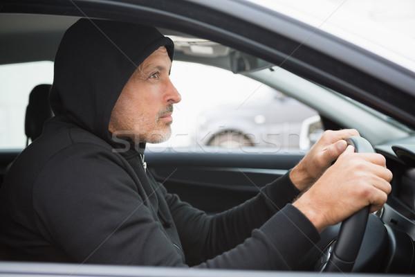 Tolvaj autó férfi biztosítás kaukázusi közlekedés Stock fotó © wavebreak_media