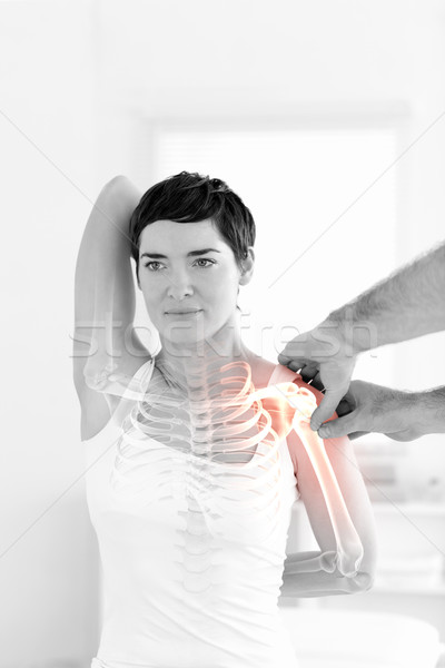 Knochen Frau digital composite Arzt medizinischen Medizin Stock foto © wavebreak_media