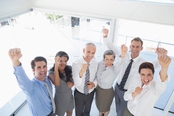 üzleti csapat ünnepel jó állás iroda üzlet Stock fotó © wavebreak_media