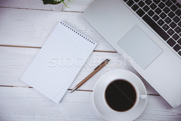 Shot laptop notepad bureau business kantoor Stockfoto © wavebreak_media