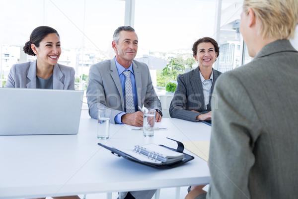 Entrevista panel escuchar solicitante oficina negocios Foto stock © wavebreak_media