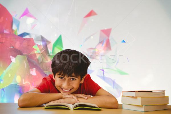 изображение портрет мальчика чтение книга Сток-фото © wavebreak_media