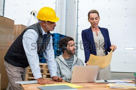 Architecture team working together at desk Stock photo © wavebreak_media