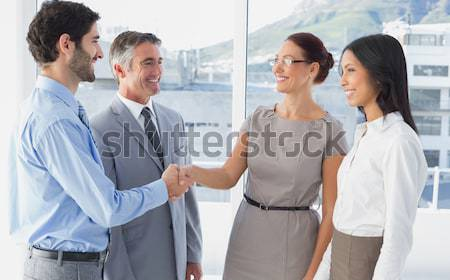 Businessman offering to shake hands Stock photo © wavebreak_media