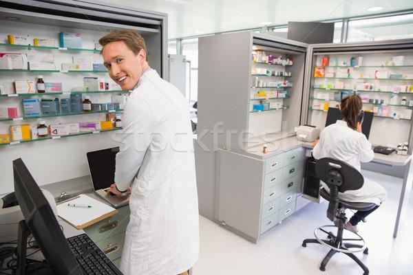 Felice farmacista ospedale farmacia medici Foto d'archivio © wavebreak_media