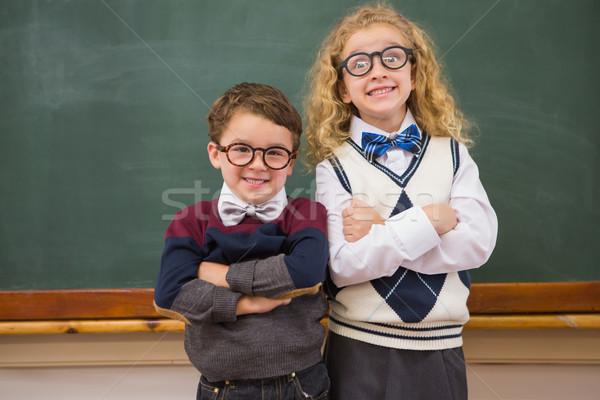 Cute leerlingen naar camera Stockfoto © wavebreak_media