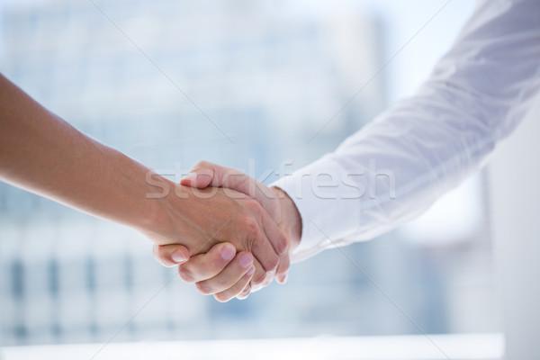 Twee zakenlieden handen schudden kantoor Stockfoto © wavebreak_media