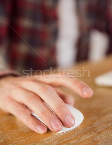 бизнесмен рабочих столе служба мыши Сток-фото © wavebreak_media