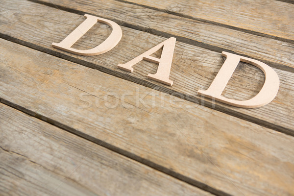Papá texto mesa de madera vista madera Foto stock © wavebreak_media