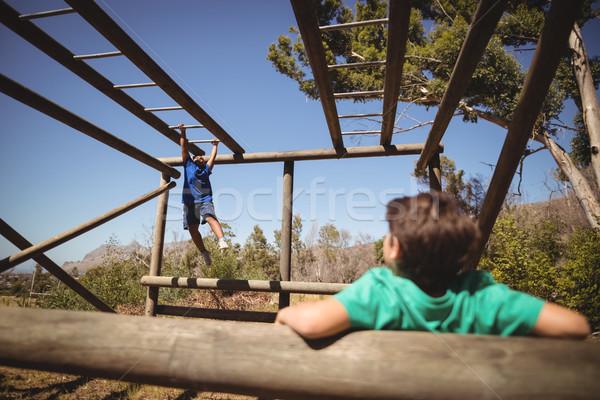 Jongens aap bar boot Stockfoto © wavebreak_media