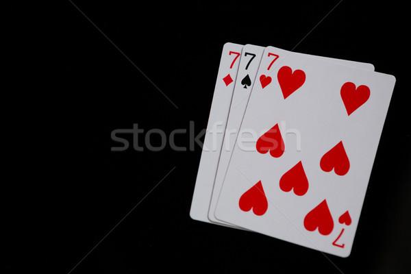クローズアップ 3  カード 黒 ガラス 青 ストックフォト © wavebreak_media