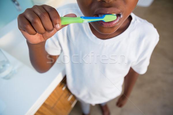 Ragazzo sink bagno bambino home Foto d'archivio © wavebreak_media