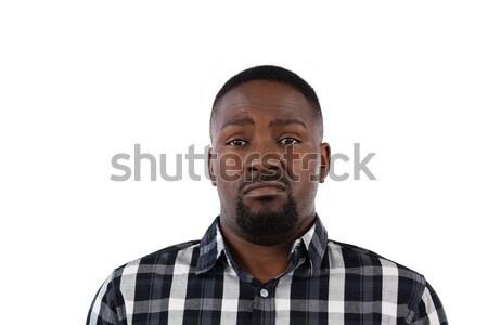 Confundirse hombre blanco retrato verde triste Foto stock © wavebreak_media