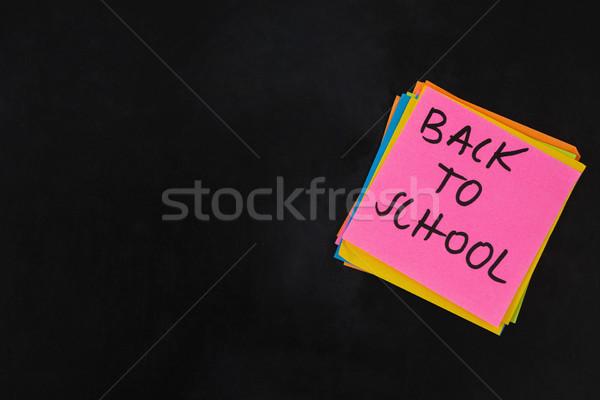 Back to school text written on sticky note Stock photo © wavebreak_media
