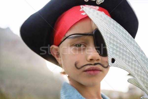 Close up portrait of boy wearing pirates costume Stock photo © wavebreak_media