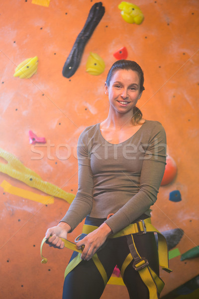 Portrait of confident woman wearing safety harness Stock photo © wavebreak_media