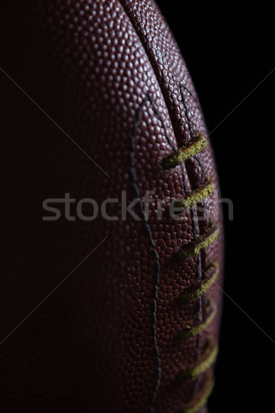 Közelkép textúra öltés amerikai futball labda Stock fotó © wavebreak_media