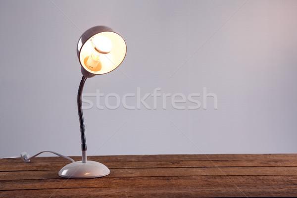 Tablo lamba beyaz ahşap teknoloji Stok fotoğraf © wavebreak_media