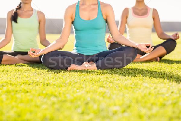 Sporty women doing yoga together Stock photo © wavebreak_media