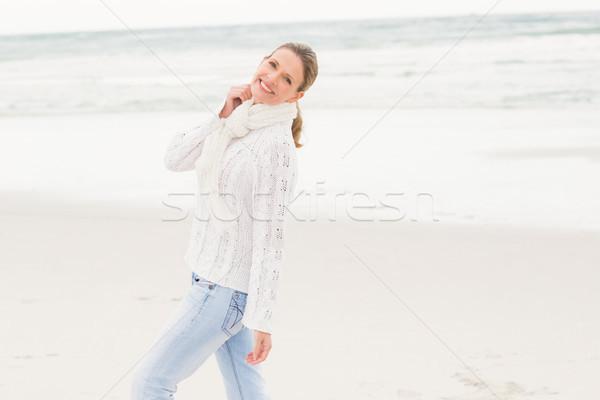 Woman walking on the shore Stock photo © wavebreak_media