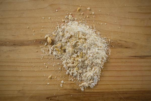 Farine bois planche à découper bois balle Photo stock © wavebreak_media
