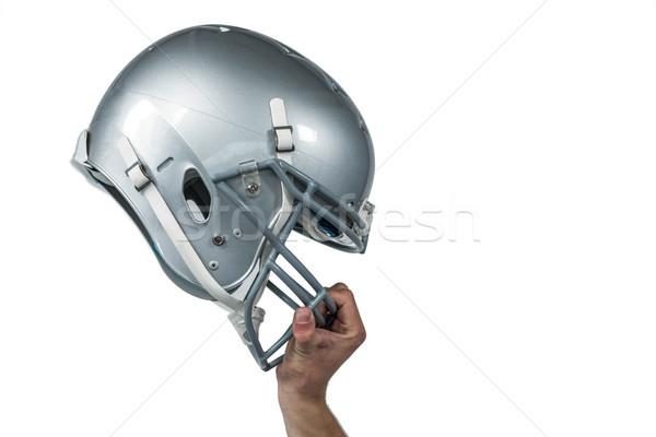 Amerykański kask obraz biały sportu Zdjęcia stock © wavebreak_media