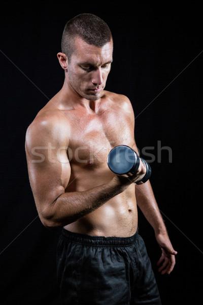 Przystojny półnagi sportowiec czarny Zdjęcia stock © wavebreak_media