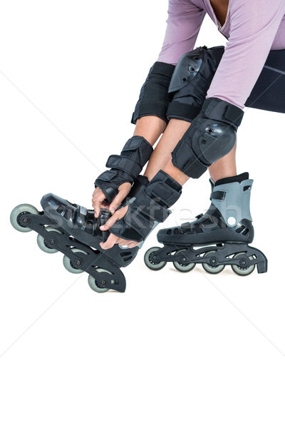 Low section of sporty woman wearing inline skates Stock photo © wavebreak_media