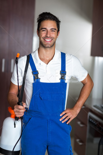 Portrait of happy confident pesticide worker Stock photo © wavebreak_media