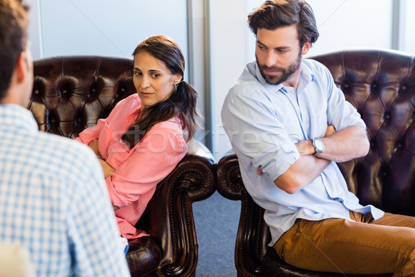 Psicólogo ayudar Pareja relación dificultades oficina Foto stock © wavebreak_media
