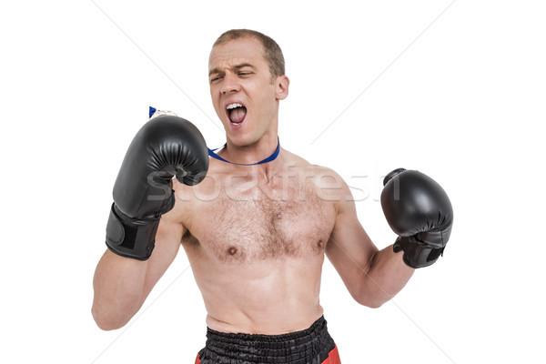 Boxeur médaille boxe Photo stock © wavebreak_media