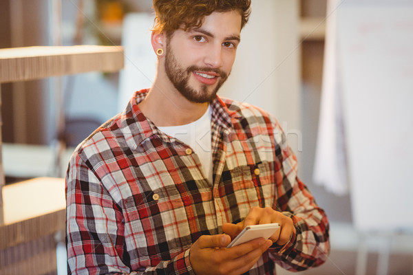 Mid section of man holding cup of coffee Stock photo © wavebreak_media