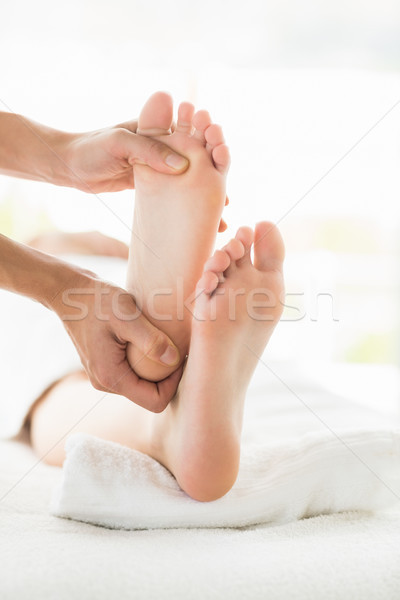 Cropped image of woman receiving foot massage Stock photo © wavebreak_media