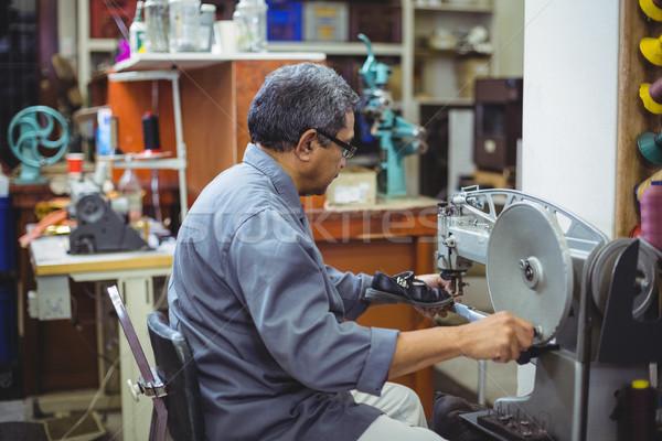 швейные машины семинар промышленности работник пожилого кожа Сток-фото © wavebreak_media