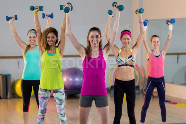 Grup kadın egzersiz spor salonu uygunluk Stok fotoğraf © wavebreak_media